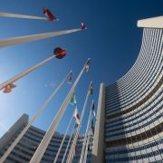 IAEA headquarters on Nov. 18, 2020, in Vienna.
