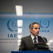 International Atomic Energy Agency (IAEA) Director Rafael Grossi holds a press conference about monitoring Iran's nuclear activities on May 24, 2021, in Vienna, Austria.