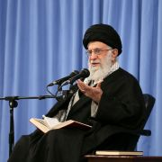 Iranian Supreme Leader Ayatollah Ali Khamenei speaks in Tehran on Feb. 23, 2020.