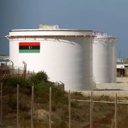 This photo shows an oil installation in Libya.