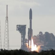 An Atlas V rocket with the Perseverance rover lifts off from Launch Complex 41 at Cape Canaveral Air Force Station in Florida on July 30, 2020.