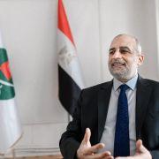 Egypt's Muslim Brotherhood spokesperson Talaat Fahmy speaks during an interview in Istanbul, Turkey, on Jan. 19, 2021.