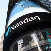 A view of NASDAQ in Times Square on May 7, 2020, in New York City.