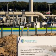 The landfall facility for the Nord Stream 2 pipeline is seen in Lubmin, Germany, on Sept. 7, 2020.