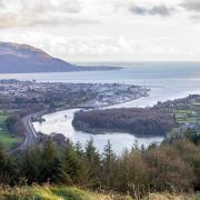 A photo taken on Dec. 15, 2020, shows the town of Warrenpoint, which sits on the border between Northern Ireland and the Irish Republic.