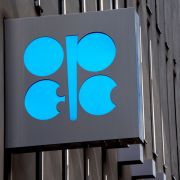 The OPEC logo is seen at the group's headquarters in Vienna, Austria, on May 24, 2017.