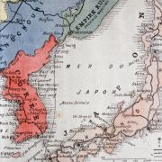 This map shows the theater of the war between Russia and Japan in 1904.