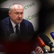 Yuri Ganus, head of the Russian Anti-Doping Agency, holds a news conference in Moscow on Jan. 22, 2019.