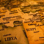 A stock image of a map of North Africa, the Middle East and Southern Europe.