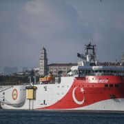 The Oruc Reis seismic research vessel on Aug. 23, 2019, in Istanbul.