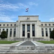 The U.S. Federal Reserve building is seen on July 1, 2020, in Washington D.C.